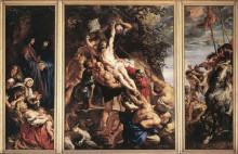 """Репродукция картины """"the raising of the cross"""" художника """"рубенс питер пауль"""""""