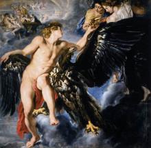 """Репродукция картины """"The Abduction of Ganymede"""" художника """"Рубенс Питер Пауль"""""""