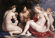 "Картина ""Venus, Cupid, Bacchus and Ceres"" художника ""Рубенс Питер Пауль"""