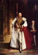 "Репродукция картины ""charles stewart, sixth marquess of londonderry, carrying the great sword of state at the coronat"" художника ""сарджент джон сингер"""