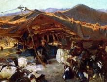 "Картина ""bedouin encampment"" художника ""сарджент джон сингер"""