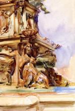 """Копия картины """"the great fountain of bologna"""" художника """"сарджент джон сингер"""""""
