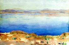 """Картина """"the lake of tiberias"""" художника """"сарджент джон сингер"""""""