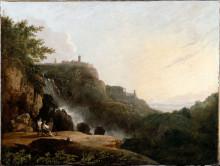 "Репродукция картины ""View of Tivoli: the Cascatelle and the 'Villa of Maecenas'"" художника ""Уилсон Ричард"""
