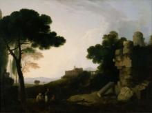 "Копия картины ""Landscape Capriccio with Tomb of the Horatii and Curiatii, and the Villa of Maecenas at Tivoli"" художника ""Уилсон Ричард"""