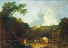 "Картина ""Distant View of Maecenas' Villa, Tivoli"" художника ""Уилсон Ричард"""