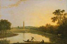 """Копия картины """"Kew Gardens: The Pagoda and Bridge"""" художника """"Уилсон Ричард"""""""