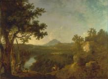 """Копия картины """"View near Wynnstay, the Seat of Sir Watkin Williams-Wynn, BT."""" художника """"Уилсон Ричард"""""""