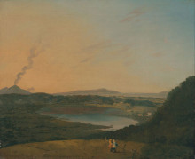 "Репродукция картины ""Lago d'Agnano with Vesuvius in the distance"" художника ""Уилсон Ричард"""