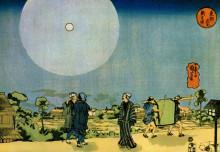 "Картина ""moon"" художника ""утагава куниёси"""