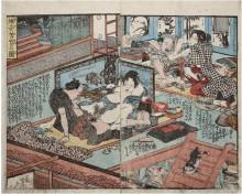 "Копия картины ""showingactivityon several floorsat the sametime"" художника ""утагава куниёси"""