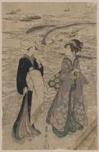 "Картина ""Fishing net"" художника ""Утагава Тоёкуни"""