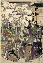 "Копия картины ""The Promenade"" художника ""Утагава Тоёкуни"""