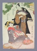 """Репродукция картины """"chushingura scene"""" художника """"утагава тоёкуни"""""""