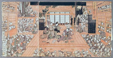 "Репродукция картины ""Interior of a Theatre"" художника ""Утагава Тоёкуни II"""