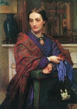 "Картина ""Portrait of Fanny Holman Hunt"" художника ""Хант Уильям Холман"""