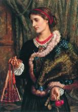 "Копия картины ""The Birthday (A Portrait Of The Artist's Wife, Edith)"" художника ""Хант Уильям Холман"""