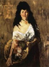 """Картина """"Woman with a Basket"""" художника """"Чейз Уильям Меррит"""""""