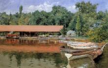 "Копия картины ""Boat House, Prospect Park (aka Boats on the Lake, Prospect Park)"" художника ""Чейз Уильям Меррит"""