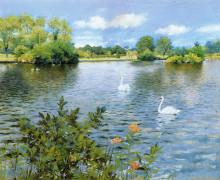 "Картина ""A Long Island Lake"" художника ""Чейз Уильям Меррит"""