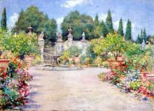 """Репродукция картины """"An Italian Garden"""" художника """"Чейз Уильям Меррит"""""""