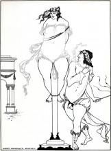 """Репродукция картины """"Juvenal Scourging Woman"""" художника """"Бёрдслей Обри"""""""