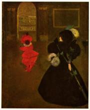 "Копия картины ""Masked Woman with a White Mouse"" художника ""Бёрдслей Обри"""