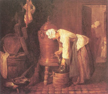 """Репродукция картины """"Woman Drawing Water from an Urn"""" художника """"Шарден Жан Батист Симеон"""""""
