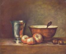 """Картина """"The Silver Beaker"""" художника """"Шарден Жан Батист Симеон"""""""