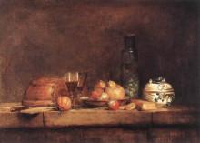 """Копия картины """"Still Life with Jar of Olives"""" художника """"Шарден Жан Батист Симеон"""""""