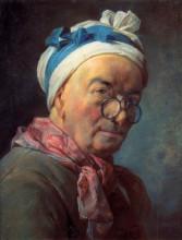 "Репродукция картины ""Self-Portraitwith Spectacles"" художника ""Шарден Жан Батист Симеон"""