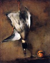 "Репродукция картины ""A Green Neck Duck with a Seville Orange"" художника ""Шарден Жан Батист Симеон"""