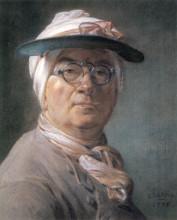 "Копия картины ""Self-portrait wearing Glasses"" художника ""Шарден Жан Батист Симеон"""
