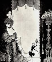 "Копия картины ""The Lady with the Monkey"" художника ""Бёрдслей Обри"""