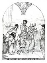 "Картина ""The Litany of Mary Magdalen"" художника ""Бёрдслей Обри"""