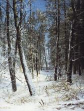 """Картина """"Зима в лесу (Иней)"""" художника """"Шишкин Иван"""""""