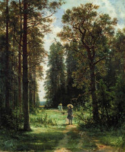 "Картина ""дорожка в лесу"" художника ""шишкин иван"""