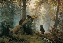 """Копия картины """"утро в сосновом лесу"""" художника """"шишкин иван"""""""