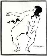 """Копия картины """"Bathyllus taking the pose"""" художника """"Бёрдслей Обри"""""""