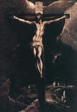 """Картина """"христос на кресте"""" художника """"эль греко"""""""