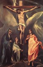 """Репродукция картины """"христос на кресте, с двумя мариями и св. иоанном"""" художника """"эль греко"""""""