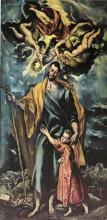 """Копия картины """"св. иосиф и маленький христос"""" художника """"эль греко"""""""