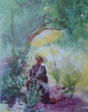 """Картина """"A Woman Sketching In A Glade"""" художника """"Батлер Милдред Аннэ"""""""