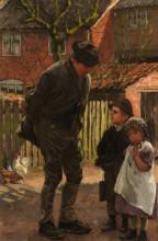 """Репродукция картины """"grandad, she does not want to go to school"""" художника """"чарльз джеймс"""""""