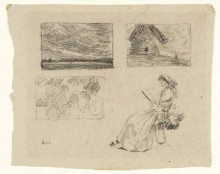 """Картина """"studies of landscapes and figures"""" художника """"чарльз джеймс"""""""