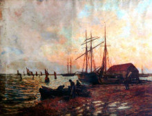 "Копия картины ""Return of the Boat, Shoreham"" художника ""Чарльз Джеймс"""