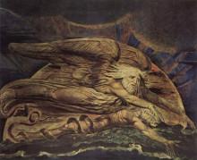 """Копия картины """"и элохим создал адама"""" художника """"блейк уильям"""""""