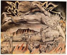 """Репродукция картины """"Иллюстрация к Книге Иова"""" художника """"Блейк Уильям"""""""