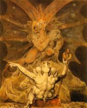 """Копия картины """"Число зверя 666"""" художника """"Блейк Уильям"""""""
