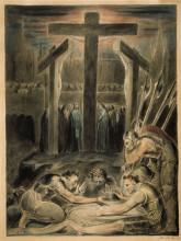 """Репродукция картины """"воины метают жребий об одежде христа"""" художника """"блейк уильям"""""""